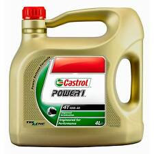 Castrol Power 1 4T Motorcycle/Bike 4 Stroke Semi-Synthetic Engine Oil 10W40 4L