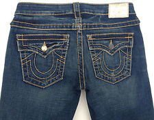 EUC - RRP $449 - Womens Stunning True Religion Brand 'DISCO JOEY BIG T' Jeans