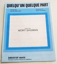 Partition sheet music MORT SHUMAN : Quelqu'un Quelque part * 70's MALLORY