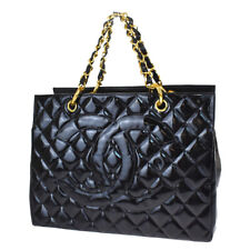 Auth CHANEL CC GST Quilted Chain Ha