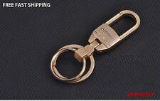 Luxury Keychain   2 Loop Belt Pants Buckle Golden Keychain Ring Holder  -HONEST