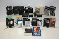 Vintage Transistor Radio Collection Qty 16 Tested Working Generally FC to VGC