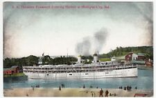 Steamer SS 'Theodore Roosevelt' Entering Harbour At Michigan City PPC Unposted