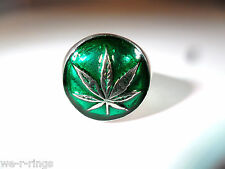 Pot Leaf Ring Sterling Silver .925   marijuana cannabis grass pot BB04/S