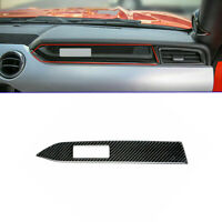 Carbon Fiber Interior Dashboard Panel Cover Trim For Ford Mustang 2015-2019