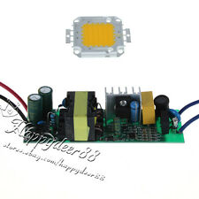50W 85-265V High Power Led Driver Supply & 50w Warm White Led Chip Lamp Light