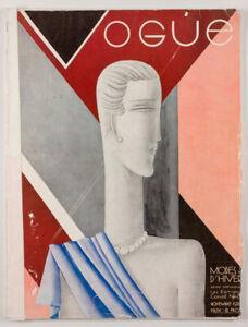 EDUARDO BENITO Carl Erickson ART DECO Hermes PARIS VOGUE magazine November 1928