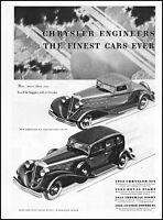 1933 Dodge 8 royal sedan car Dodge 6 convertible car vintage art print ad ads51