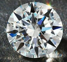 Round 7 mm 2.3 ct VVS G White Brilliant Lab Diamond Hearts & Arrows Solitaire
