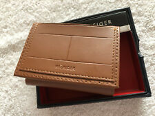 Tommy Hilfiger Men's Leather Credit Card Wallet Trifold Brown