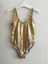 ASOS Gold Shiny Bodysuit Swimming Dancing Gymnastics Performance Size S