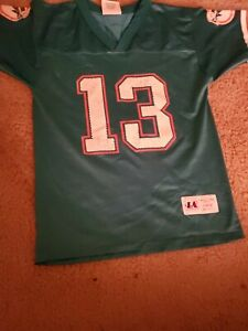 Vtg 90's Logo Athletic Miami Dolphins #13 Dan Marino  NFL Jersey Youth Large