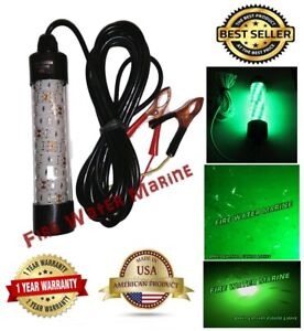 12V LED GREEN UNDERWATER SUBMERSIBLE NIGHT FISHING LIGHT crappie ice squid boat