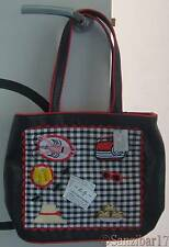New Genuine Rare Lulu Guinness Fiona Picnic Black Laptop,iPad, Tablet Tote Bag.