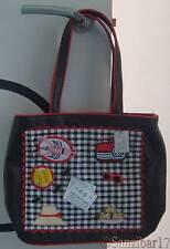 NUOVO Originale RARO Lulu Guinness Fiona Picnic Nero Laptop, iPad, Tablet Tote Bag.