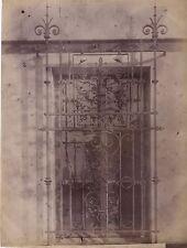 Fenêtre et grille à Paris Fer forgé France Vintage Albumine ca 1880