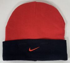 NIKE Swoosh Beanie Red Sporty Hat Cap Baby Black Sz 0-6 Months