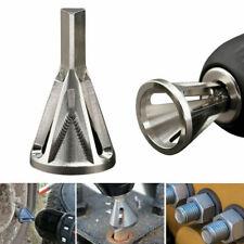 Stainless Steel Deburring External Chamfer Tool Drill Bit Remove Burr Silver UK