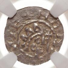 NETHERLANDS, Friesland-Leeunwerden. Bruno III, 1038-57, Silver Denar, NGC MS62