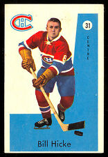 1959-60 PARKHURST #31 BILL HICKE rookie EX+ MONTREAL CANADIENS HOCKEY rc card