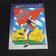 1995 NLCS Championship Program Atlanta Braves vs Cincinnati Reds Unscored