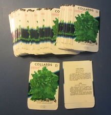 Wholesale Lot of 100 Old Vintage Georgia COLLARDS Vegetable SEED PACKETS - EMPTY