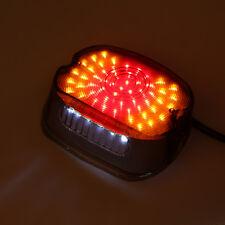 Smoked Lens Tail Rear LED Light Brake Stop Lamp fit Harley Softail Custom Suzuki