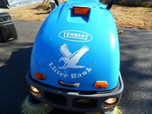 Tennant Litter Hawk Vac sweeper 393 hrs. Runs Great AS Is Need Room In Shop