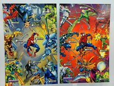 2 Fleer Marvel Cards Spider-Man Masterprints 1994 Enemies I & Enemies V