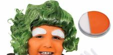 Child's Unisex Oompa Loompa Factory Worker WIG + FACEPAINT Fancy Dress Book Week