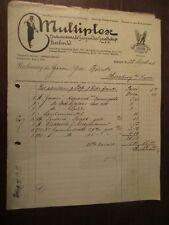 Hermosas viejas factura multiplex internacional gaszünder GmbH 1905 Berlín mostrarían
