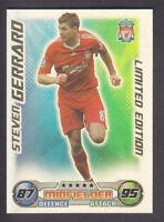 Match Attax 2008/09 - Steven Gerrard - Liverpool - Limited Edition