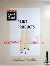 1954 GOLD BOND Catalog Paint Products used on Johns-Manville TRANSITE ASBESTOS
