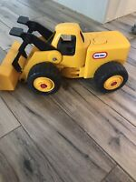 Vintage Little Tikes Yellow Front End Loader Bulldozer Toy Truck, Colllectable