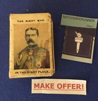 LORD KITCHENER 1916 ADVERTISING CELLULOID MATCH BOX HOLDER VESTA CASE STRIKER