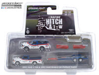 1/64 Hitch and tow-1992 Ford F-150&Ford Bronco,Trailer. BFGoodrich By Greenlight
