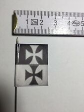 110) 1x 25mm 28mm Dark Age Crusades Order of the Teutonic Knights Banner Flag
