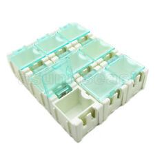 50 x White Mini Electronic Component Parts Case Box Laboratory Storage SMT SMD
