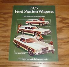 Original 1975 Ford Station Wagon Sales Brochure 75 LTD Torino Pinto