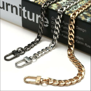 120cm Flat Handbag Metal Chain Handle Leather Shoulder Bag Strap Replacement UK