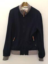 Zara Man Men's Navy Blue Zip Up Long Sleeve Bomber Style Jacket Medium - Pockets