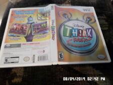 Disney Think Fast = COMPLETE w/ Manual (Nintendo Wii)