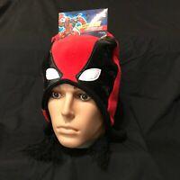 New Marvel Deadpool Peruvian Mens Laplander Winter Hat Cap Beanie