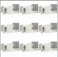 9 Pack LED Emergency Exit Light - Square Head UL Fire Safety Code Egress ELW2