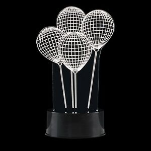 Modern LED Battery Operated Creative 3D Illusion Balloon Decorative Lamp