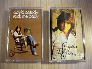 DAVID CASSIDY -- 2 MUSIKKASSETTEN - ( AUS 700 STÜCK  EINER PRIVATSAMMLUNG.)