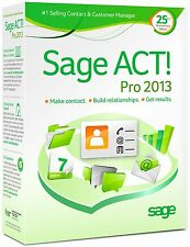 SAGE ACT! ACT PRO 2013 ACTPRO2013L RETAIL FULL - 1 USER - 3 ACTIVATIONS