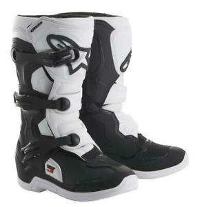 Alpinestars Tech3s Youth Motocross Boots Black/White Kids MX Boots