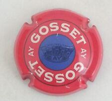 capsule champagne GOSSET petit cercle central diam 11mm n°18 bleu