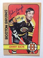 "*SIGNED* JOHNNY BUCYK 1972-73 OPC #1 ~ INSCRIBED ""HOF 1981"""
